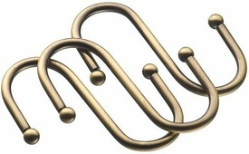 "Набор крючков ""Lemax"", навесных, на рейлинг, цвет: бронза, 6 х 5,5 х 0,4 см, 3 шт"
