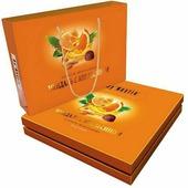 """Конфеты Династия """"Миндаль с апельсином"""", шоколадные, в сумочке, 205 г"""
