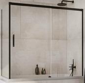 Шторка на ванну Radaway Idea Black PN DWJ+S 140 L+S 80L (прозрачное)