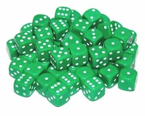 Кости игральные пластиковые, 12 мм, 1шт, цвет зеленый zar3 Partida