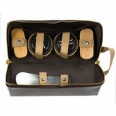 Набор обувных средств Tarrago, в кожаном футляре (коричневый).