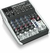 Behringer QX602MP3 компактный микшер, 6 каналов (2 мик. 2 стерео), 2 шины, процессор эффектов, MP3 плеер