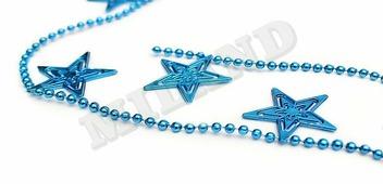 """Скидка! Бусы на елку """"Яркие звезды"""", синие, 2,7 м (Miland)"""