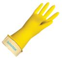 Перчатки хозяйственные латексные с хлопковым напылением, размер M