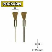 Щетка-кисточка латунная 8 мм (2 шт.) Proxxon (28961)