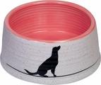 Миска для животных Nobby Luna, белый, красный, 460 мл