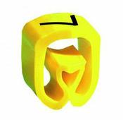 """Маркер закрытого профиля Partex PA-2 на провод 2.5-16.0 мм², символ """"7"""", желтый/черный (пачка 100 шт.) {PA-200..."""