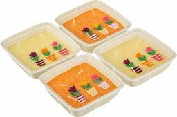 """Набор свечей Lefard """"Тюльпаны"""", 348-510, желтый, оранжевый, 11 х 4 см, 4 шт"""