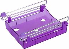 Органайзер для холодильника Homsu, на металлическом основании, цвет: фиолетовый, 15 х 12 х 4 см