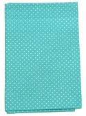 """Ткань Кустарь """"Мелкий горошек"""", цвет: бирюзовый, 48 х 50 см. AM555013"""