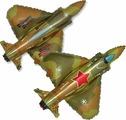 Флексметал Шарик воздушный Истребитель цвет милитари