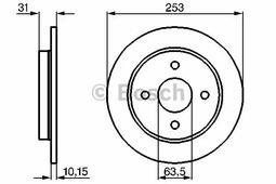 Тормозной диск BOSCH 0986478344