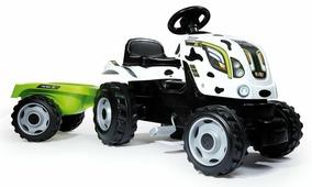 Smoby Трактор педальный Farmer XL с прицепом цвет белый черный