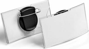 Durable Бейдж Konvex горизонтальный с клипом и булавкой