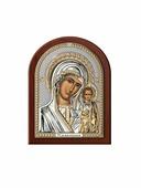 Икона АргентА Казанская Божья Матерь 7,5 х 11, серебристый