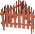 """Забор декоративный Palisad """"Романтика"""", цвет: терракоторвый, 28 см х 3 м"""