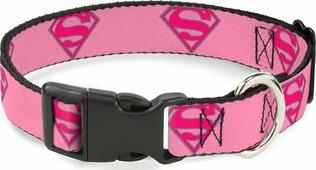 Ошейник Buckle-Down Супермен, 190882319496, розовый, 23-38 см