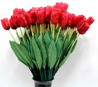 Тюльпан искусственный, Красный