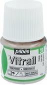 Pebeo Краска для стекла и металла Vitrail лаковая прозрачная цвет 050-039 жемчужный 45 мл