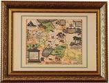 Карта России, Московии и Тартарии Дженкинсона в багете, 88х68 см