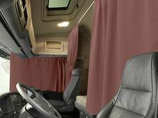 Комплект автоштор Эскар Blackout - auto L, кофе с молоком, 2 шторы 240 х 100 см, 2 подхвата