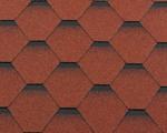 Гибкая битумная черепица RoofShield Стандарт Premium Кирпично-красный с оттенением