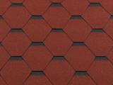 Гибкая битумная черепица RoofShield Стандарт Premium Красный с оттенением