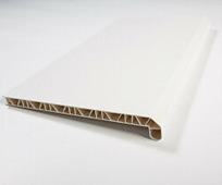 Подоконник ПВХ Мастерпласт Люкс белый 150 мм