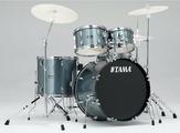TAMA SG52KH6-CSV STAGESTAR ударная установка из 5-ти барабанов (цвет - Charcoal Silver) со стойками (бочка 16х22, томы 7x10, 8х12 напольный 14х16, малый 5х14) со стойкой для малого барабана, стойкой для хай-хэта, стойкой под тарелку, наклонной стойкой под
