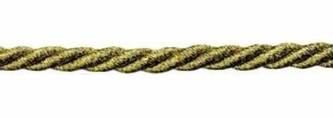 Шнур витой, 5 мм, 50 м, люрекс (цвет: 01, светлое золото), арт. 23-105