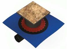 Душевой трап Berges Wasserhaus Zentrum Keramik (под плитку) (15х15 см)