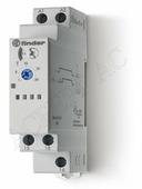 Реле времени Таймер многофункциональный с 1переключающим контактом 16А (12-240В, AC/DC) Finder
