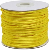 Шнур атласный, для воздушных петель, цвет: лимонный, 2 мм x 45,7 м