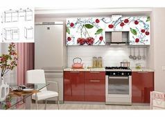 Кухнонный гарнитур Олива Вишня 2,1 м
