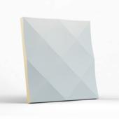 Стеновая гипсовая 3D панель – Ромбы, 500х500mm