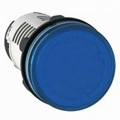 Синяя лампа со встроенным светодиодом 220В AC Schneider Electric, XB7EV06MP