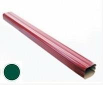 Труба водосточная Grand Line Vortex 102/78, ПЭ, Зеленый, 1м