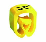 """Маркер закрытого профиля Partex PA-2 на провод 2.5-16.0 мм², символ """"N"""", желтый/черный (пачка 100 шт.) {PA-200..."""