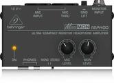 Behringer MA400 Компактный мониторный усилитель для стереонаушников (с возможностью установки баланса уровней сквозного микрофонного канала и линейного входа при прослушивании)