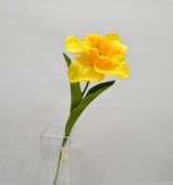Цветок искусственный Нарцисс одиночный, 60 см.