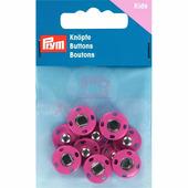 Кнопки пришивные латунь 14 мм 5 шт ярко-розовый Prym 341905