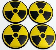 Наклейки на колесные диски Радиация металл Mashinokom d 56mm