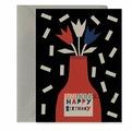 """Открытка """"Happy Birthday - vase"""" C6"""