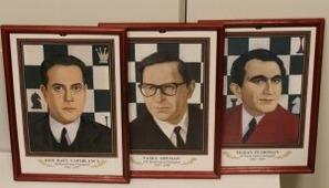 16 чемпионов мира ПО шахматам. Настенные портреты В деревянных рамах