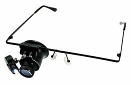Лупа-очки Kromatech налобная монокулярная 20x, с подсветкой (1 LED) MG9892A Kromatech (Кроматек)