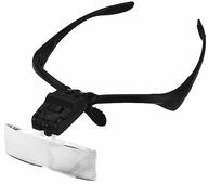 Лупа-очки Kromatech налобная 1,0/1,5/2,0/2,5/3,5x, с подсветкой (2 LED) MG9892B Kromatech (Кроматек)