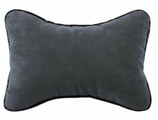 """Подушка на подголовник автомобиля AvtoTink """"Косточка"""", цвет: серый, 20 х 30 см"""