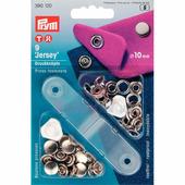 """Кнопки """"Джерси'"""" латунь 10 мм 9 шт серебристый Prym 390120"""
