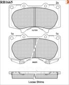 Дисковые Тормозные Колодки R Brake R BRAKE арт. RB1665