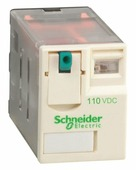 Реле 2 co 110в пост тока Schneider Electric, RXM2AB1FD